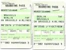 2 Boarding Pass - SN2579/SN2586 - Brussels-Berlin Tempelhof-Brussels - 11OCT2007 - Instapkaart