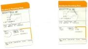 2 Boarding Pass - Lufthansa - LH4631/LH4636 - Brussels-Stuttgart-Brussels - 16AUG2006 - Instapkaart