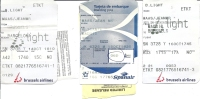 Boarding Pass - SN3705/JK6325/SN3728 - Brussels-Barcelona-Alican Te-Madrid-Brussels - 14-16OCT2007 + Luggage Tags - Instapkaart