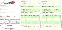Boarding Pass - VLM - VG153/VG160 - Brussels-London City-Brussels - 01FEB2005 - Instapkaart
