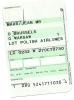 Boarding Pass - LOT - LO 0232 - Brussels-Warsaw - 27OCT2005 - Instapkaart