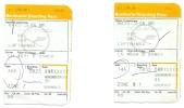 2 Boarding Pass - Lufthansa - LH4631/LH4634 - Brussels-Stuttgart-Brussels - 25NOV2005 - Instapkaart