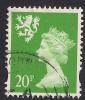 SCOTLAND GB 1996  20p BRIGHT GREEN USED MACHIN STAMP SG 83..  ( A818 ) - Regional Issues