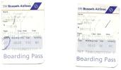 2 Boarding Pass - SN Brussels Airlines - SN2711/SN2718 - Brussels-Geneva-Brussels - 28OCT2005 - Instapkaart
