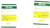 2 Boarding Pass - Alitalia - SN5001/SN3160 - Brussels-Milan Malpensa-Brussels - 13OCT2005 - Instapkaart