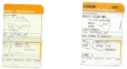2 Boarding Pass - Lufthansa - LH5881/LH1946 - Brussels-Munich-Brussels - 05OCT2005 - Instapkaart