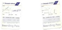 2 Boarding Pass - SN Brussels Airlines - SN2713/SN2718 - Brussels-Geneva-Brussels - 30SEP2005 - Instapkaart