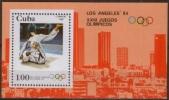 Olympic Games 1984 Cuba Bl 75 Los Angeles MNH ** Judo - Summer 1984: Los Angeles