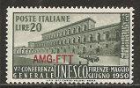 Trieste A 1950 - N. 71 - UNESCO £ 20 - MNH** - Nuovi