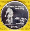 @Y@   Aruba  25 Florin 1995  Proof   Zilver - Antillen (Niederländische)