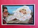 Fantasie  Smoking A Dream Within A Dream  1918 Cancel --- Ref 437 - Postcards