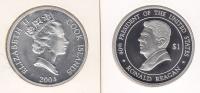 @Y@   Cook Island 1 Dollar  2004  Ronald Reagan / Elisabeth    Zilver  (967) - Cook