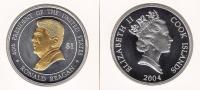 @Y@   Cook Island 1 Dollar  2004  Ronald Reagan / Elisabeth    Zilver  (966) - Cook