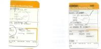 2 Boarding Pass - Lufthansa - LH4573/LH4586 - Brussels-Frankfurt-Brussels - 03MAY2005 - Instapkaart