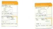 2 Boarding Pass - Lufthansa- LH4613/LH4606 - Brussels-Munich-Brussels- 07DEC04 - Instapkaart