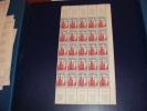 N° 975 En Demi Feuille De 25  Timbres Neuf** - Fogli Completi