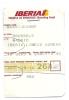 Boarding Pass - Iberia- IB3205 - Brussels-Madrid- 24NOV04 - Instapkaart