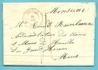 Brief Met Stempel THIELT Op 29/oct/1845 - 1830-1849 (Belgique Indépendante)
