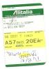 Boarding Pass - Alitalia- SN5001 - Brussels-Milan Malpensa- 10NOV04 - Instapkaart