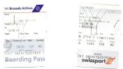 2 Boarding Pass - SN2711/SN2714 - Brussels-Geneva-Brussels - 17MAY04 - Instapkaart
