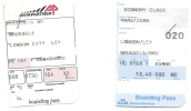 2 Boarding Pass - Aviapartner/KLM Pour Vol VLM - VG161/VG168 - Brussels-London City-Brussels - 05MAR04 - Instapkaart