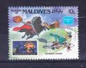 MALDIVES 1986  AMERIPEX - Disney  10 L Y&T # 1073  Cv 0.15 E   ** M N H  , V V F - Maldive (1965-...)