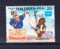 MALDIVES 1986  AMERIPEX - Disney  20 L Y&T # 1075 Cv 0.30 E   ** M N H  , V V F - Maldive (1965-...)