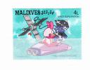MALDIVES 1988 Espace  - Disney  4 L Y&T # 1147 Cv 0.15 E   ** M N H  , V V F - Maldives (1965-...)
