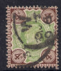 GB 1902 - 10 KEV11 4d BROWN & GREEN USED STAMP.. ( A563 ) - 1902-1951 (Re)