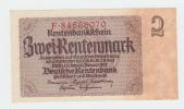 Germany 2 Rentenmark 1937 UNC NEUF P 174b  174 B - Altri
