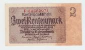 Germany 2 Rentenmark 1937 AUNC P 174b  174 B - [ 4] 1933-1945: Derde Rijk