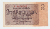 Germany 2 Rentenmark 1937 AUNC P 174b  174 B - [ 4] 1933-1945 : Third Reich