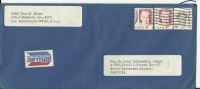 USA  Airmail  1983,  Great Americans Pearl Buck 5cent , 1985 ADMIRAL CHESTER W. NIMITZ, Airmail To Pakistan - 1a. 1918-1940 Used