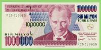 Turquie - 1 000 000 Lirasi - Bir Milyon - N° R25 529915 -  Neuf - - Turquie