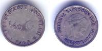Pièces_03_Antilles Néérlandaises - 1/10 Gulden - 1963 – Juliana - Antilles Neérlandaises