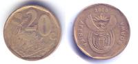 Pièces_04_afrique Du Sud – Aferika Borwa – 20 Cent – 2000 - Afrique Du Sud