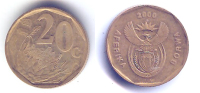 Pièces_04_afrique Du Sud – Aferika Borwa – 20 Cent – 2000 - Sud Africa