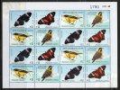 1061 URUGUAY-2009* -Serie Primavera-Mariposas Y Pájaros- Plancha - Uruguay