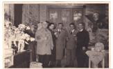 20596 Carte Photo -commerce Salon De Thé Café Epicerie Torefacteur -1955-60? Couple Belge Belgique - Magasins
