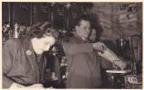 20599 Carte Photo -commerce Salon De Thé Café Epicerie Torefacteur -1955-60? Couple Belge Belgique
