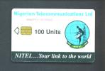 NIGERIA  - Chip Phonecard/100 Units Reverse Satellite Dish - Nigeria