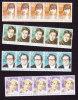 New Zealand, Scott # 946-949, Mint Never Hinged, Authors, Issued 1989 - New Zealand