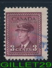 CANADA STAMP - KING GEORGE VI WAR ISSUE - SCOTT No 252, 0,03ç, ROSE VIOLET, 1942 - USED - - 1937-1952 Règne De George VI