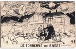 """BREST """" LE TONNERRE DE BREST """" FINISTERE HUMOUR FIACRE COCHER ATTELAGE - Brest"""