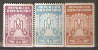 OM215 - REPUBBLICA DOMINICANA - Yvert &Tellier  N° 92/4 P.a. ** - Anno Mariano - Repubblica Domenicana