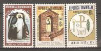 OM216 - REPUBBLICA DOMINICANA - Yvert &Tellier  N° 762/3 + 271 P.a. ** - Semaine Sainte - Repubblica Domenicana