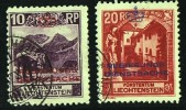 1932  Paysages  10 Et 20 Rp  Les Deux Perforés 10½  MiNr D2A, 3A  Cote 125€ - Official