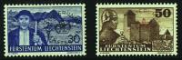 1937  Paysages 30 Et 50 Rp   MiNr D24-5  Faible Trace De Charnière - Official