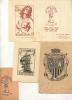 LOTE DE 4 EX LIBRIS DIFERENTES VALENCIA ESPAÑA 1940-1950 SOLD AS IS, SE VENDEN COMO ESTAN PAIS: ESPAÑA RARE, AGOTADO, U - Bookplates