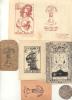 LOTE DE 9 EX LIBRIS DIFERENTES VALENCIA ESPAÑA 1940-1950 SOLD AS IS, SE VENDEN COMO ESTAN PAIS: ESPAÑA RARE, AGOTADO, U - Bookplates